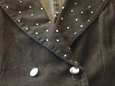 New Lot of 2 Stunning Modelle Black Jean 2 Pc Suit Rhinestones Size Small