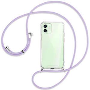 Collier pour Apple iPhone 12, 12 Pro violet (A) Etui Coque antichoc avec cordon