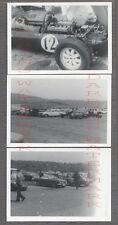 Lot of 3 Vintage Photos Lotus Cosworth Race Car Parking Lot 767393