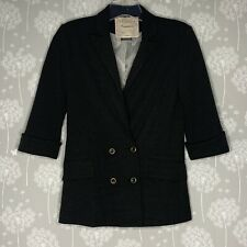 Anthropologie Cartonnier Blazer Size Small Gray 3/4 Rolled Sleeves*