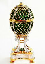 Large Musical Egg Trinket Box. Hand Made with Enamel & Swarovski Crystals