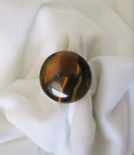 Energy Ring.   Natural Tiger Eye on Silver Plated Base.  Adjustable.   NWT