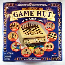 Game Hut  8 Classic Board Games Checkers Chess Mancala Backgammon New Unsealed