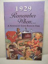 88th Birthday - 1929 Remember When Nostalgic Book Card  - NEW
