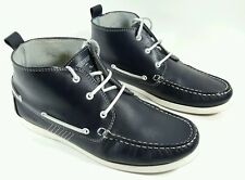 Nushu mens navy leather boat shoes style boots UK 8 Eu 42