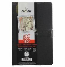Canson 14x21.6cm 180 Sketchbooks 96gsm 80 sheets drawing pad open flat A5