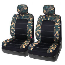 Auto 2 Camo Front Seat Covers Set with Headrest Covers for Car Truck SUV