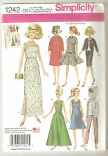 "Simplicity Sewing Pattern 1242 Vintage Doll Clothes 11 1/2"" Barbie Fashion Doll"