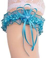 Strumpfband Braut meergrün grün türkisgrün mit Herzchen Schleifchen Hochzeit