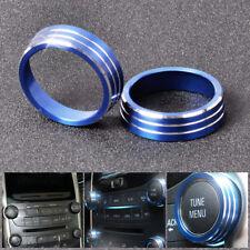 2* Aluminum Alloy Audio Knob Trim cover for Chevrolet Malibu 2012 2013 2014 2015