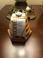 Yellow Joie Ceramic Honey Pot & Dipper  NEW