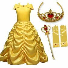 Elsa Princess Dresses Belle Costume Anna Queen Snow White Cinderella Cosplay