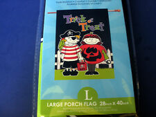 "Rain or Shine~Large Porch Flag~TRICK OR TREAT~ART FLAG~Halloween~28 x 40""~NIP"