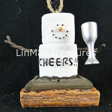 S'mores Cheers Ornament With Glass of Wine Midwest Cbk