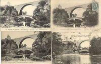 Lot 4 cartes postales anciennes PIERRE-PERTHUIS vallée de la cure