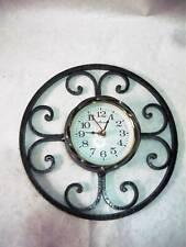 Horloge murale à quartz fer forgé