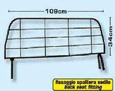 GRIGLIA SEPARATORE DA SCHIENALE PER AUTO 109X34 cm FISSAGGIO SPALLIERA SEDILE
