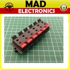 12 Way Speaker Terminal Push Connection Spring Level Red & Black