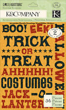 K&CO GHOSTLY GREETINGS Glitter Scrapbook Stickers