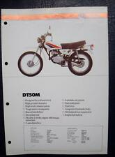 YAMAHA DT50M - Motorcycle Specifications Sheet - C.1982