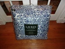 Ralph Lauren Porcelain Blue Tamarind Birds Asian King Comforter & Shams Set