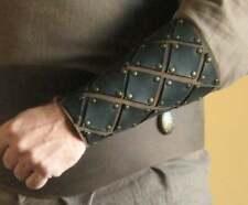 Leather arm bracers for LARP costume Medieval Armor Celtic 2 Tone Arm Bracer