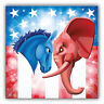 Democrat And Republican USA Politics Car Bumper Sticker Decal 5'' x 5''