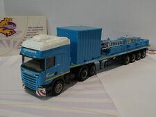 Herpa 305433 # Scania R TL Flachbett-Sattelzug mit 10 ft. Gerätecontainer 1:87