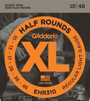 D'Addario EHR310 Half Round Electric Guitar Strings 10-46 Regular Light