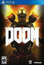 Doom (Sony PlayStation 4, 2016) PS4 Game Excellent Disc Only Perfect MA FREE S&H