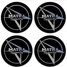 4 adhésifs MATRA noir chrome 35 à 100 MM pour centre jantes / 530 bagheera djet