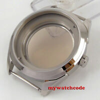 polish 42mm PARNIS 316L steel sapphire glass Watch Case fit NH35 NH36  MOVEMENT