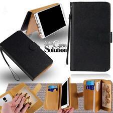leder stand flip card wallet cover etui für verschiedene nokia modelle smartphone
