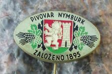 Antique Pivovar Nymburk 1895 Czechoslovakia Lion Logo Brewery Lager Pin Badge