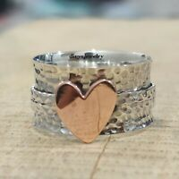 925 Sterling Silver Spinner Ring  Anxiety Ring, Meditation Ring,Dainty Ring,s306