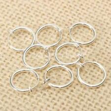 8PCS Punk Silver Fake Earrings Body Piercing Nose Lip Rings