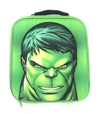OFFICIAL NEW MARVEL AVENGERS HULK EVA 3D BOYS NURSERY SCHOOL LUNCH INSULATED BAG