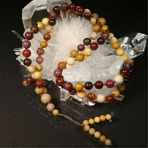 Natural Egg Yolk 108 Beads Tassel Knotted Necklace Chic Wrist Spirituality