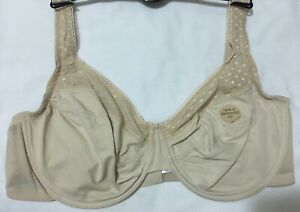 M&S MINIMISER Smoothing UnderWired FULL CUP Bra In With Lace In ALMOND Size 34C