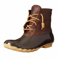 Sperry STS91176-095M Women's Tan & Dark Brown Duck Boot, 9.5M Size