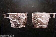 PHOTOS albuminées 1870 GOLD CUPS of SPARTA & URNE funéraire Musée