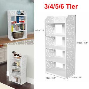 4/5 Tiers UK Shoe Rack Storage Shelf Display Stand Organiser Unit Cabinet White