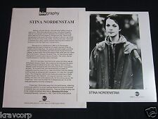 STINA NORDENSTAM 'AND SHE CLOSED HER EYES' 1994 PRESS KIT--PHOTO