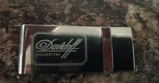 Rare Stainless Steel Davidoff Cigarettes Promotional Money Clip New Boxed