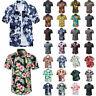 Men's Hawaiian Floral T Shirt Summer Short Sleeve Beach Party Casual Tops Blouse