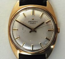 Gents 1970's Swiss 9ct Gold Zenith Hi Beat 28800 Windup Cal. 2562 Watch Serviced