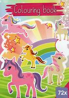 Colouring Book-Malbuch für Kinder-Einhörner, Pferde und viele andere Motive #543