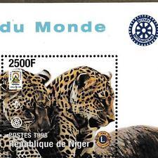 Niger 1998 Scout Pfadfinder + Wildkatzen, Mi.1423: Bl.109 MNH