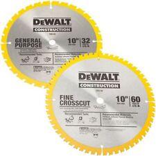 """Dewalt DW3106P5 10"""" Saw Blade Set 60 & 32 Tooth 18648"""