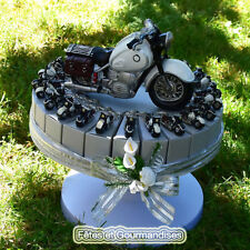 Moto custom gateau pour communion, anniversaire, dragees, bonbons